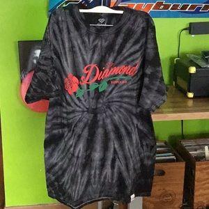 Diamond Supply Co. Tye Dye Gray Swirl T Shirt